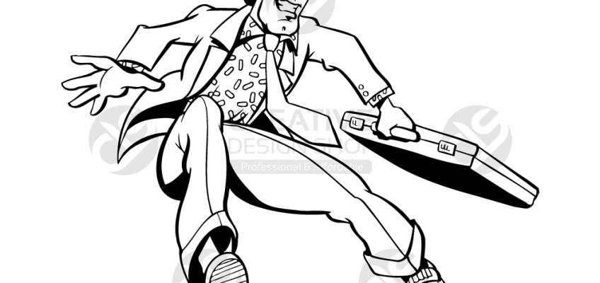 Happy-Businessman-Jumping-Vector-Illustration